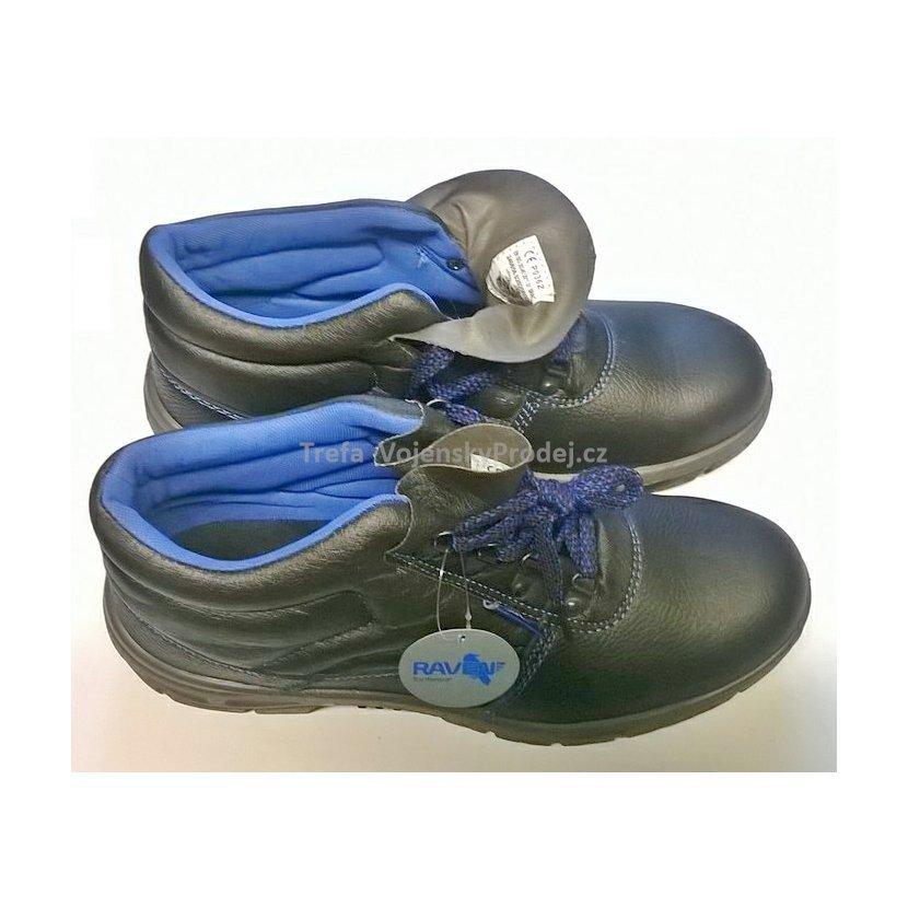 Kotníkové kožené boty Raven 01 09a394c286